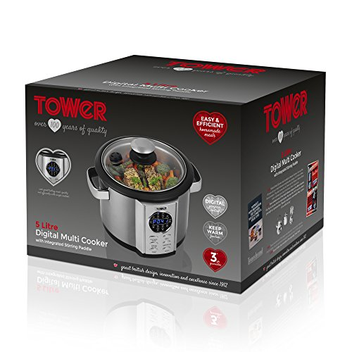 tower 5 liter digital multi cooker review in uk t16006. Black Bedroom Furniture Sets. Home Design Ideas